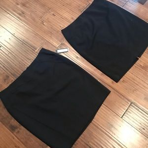 Bundle of 2 black pencil skirts! NWT